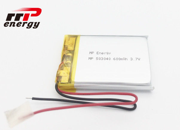Long Lifespan Lithium Polymer Battery 3.7V 600mAh CE CB UL IEC62133 KC BIS