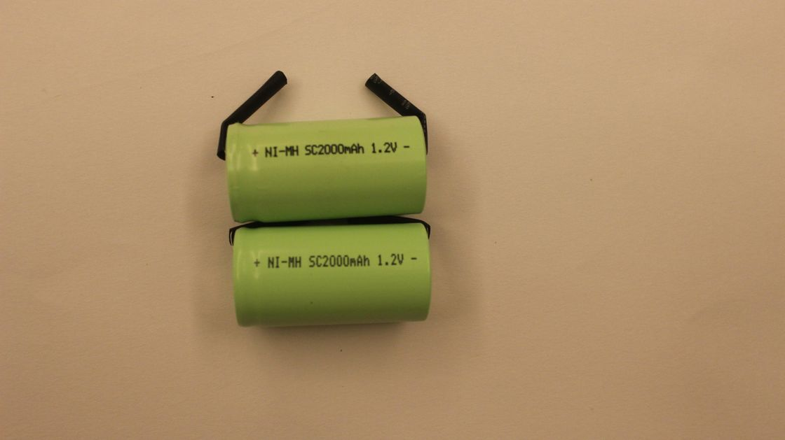 Electric Sweeper Cylindrical 2000mAh 1.2V charging nimh batteries