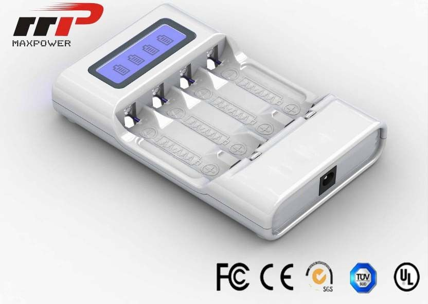 Intelligent AA AAA LCD Battery Charger 4 Slot NIMH NiCad Batteries CE